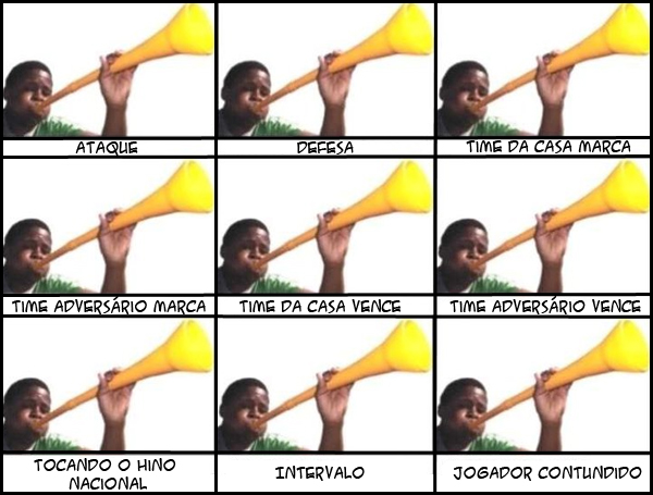 Quando e como usar vuvuzela na hora do jogo.